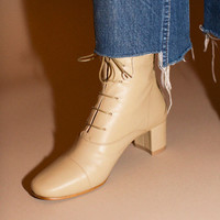 By Far Boots - Cream Lada Ankle Boot | BONA DRAG