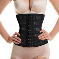 Women Waist Cincher Trainer Breathable Body Tummy Girdle Control Corset Sport Shaper Belly = 1929921860