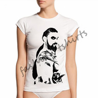 khal drogo shirt,game of thrones shirt,Women's Custom -shirt, Ladies T Shirt Screen Printing T-shirts, Women's T-Shirts,Tshirt,Size S, M, L