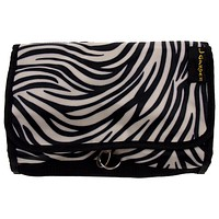 Cosmetic Makeup Bag Black White Zebra Travel Kit Folding Pouch Organizer Case