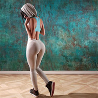 Fashion Casual Multicolor Hooded Sleeveless Backless Yoga Sportswear Romper Jumpsuit Trousers