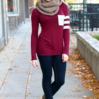 The Tailgating Top - Burgundy