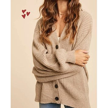 Plush Boyfriend Ribbed Sweater