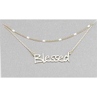 """""""Blessed"""" Layered Necklace"""