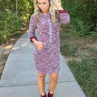 Better Together Tunic Dress - Wine