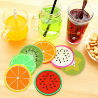 1 Pcs Silicone Dining Table Placemats Coaster Kitchen Accessories Mat Cup Bar Mug Fruit Colorful Placemats Coaster Mats & Pads