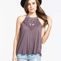 O'neill Dya Womens Tank Charcoal  In Sizes