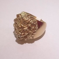 Lion Ring With Diamond