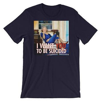 Bill Clinton In A Blue Dress T-Shirt
