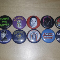 Chance The Rapper button set of 14
