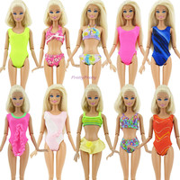 Lot 20 Items = 10 Sets Fashion Swimsuits Beach Bathing Swimwear + 10 Slippers Outfits For Barbie Doll xMas Gift Baby Toy