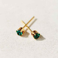 Diament Jewelry X Urban Renewal Green Crystal Stud Earring