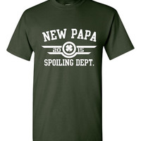 New Papa Spoiling Department T Shirt Great Gift for Papa Grandpa Grandparents, Gift for grandpa fathers day shirt