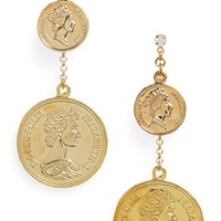 Shashi Double Coin Earrings | Nordstrom