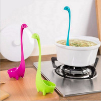 Spoons Loch Ness Monster Cartoon Kitchen Plastic Spoon Long Handled Spoon Soup Tableware Dinnerware Cooking Tools