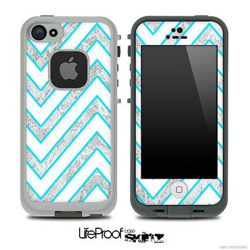 Large Chevron and White Lace Skin for the iPhone 5 or 4/4s LifeProof Case
