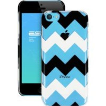 iPhone 5C Case, ESR the Beat Series Hard Clear Back Cover Snap on Case with Chevron Pattern for iPhone 5C (Zagz)