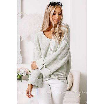 Was Mint To Be Sweater Top