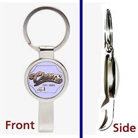 Cheers TV Show Bar Pennant or Keychain silver tone secret bottle opener