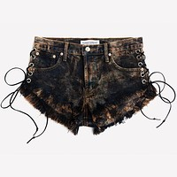 Lace Up Rocky Acid Babe Shorts