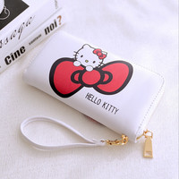 Women Bag Hello Kitty Wallet Mickey Purse Doraemon Leather Handbag Ladies Wallets Clutch Bag Bolsa Feminina Bolsas Female
