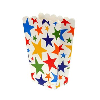 Stars Popcorn Favor Boxes, 5-Inch, 4-Count