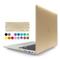 iBenzer - 2 in 1 Soft-Touch Plastic Hard Case Cover & Keyboard Cover for 11 inches Macbook Air 11.6'' (Model: A1370 / A1465), Gold MMA11GD+1