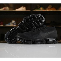Nike Air VaporMax Flyknit 2018 Triple Black 849558-011 Sport Running Shoes