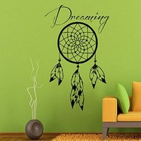 Wall Decor Vinyl Decal Sticker Indian Amulets Dreaming Dream Catcher Bedroom Kids Room Nursery Ideas Living Room Home Interior Design Kg704