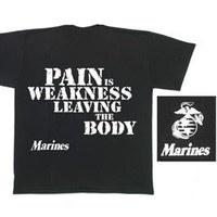 Rothco T-Shirt/Pain Is Weakness, Black, Small