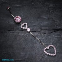 Luscious Double Hearts Belly Button Ring