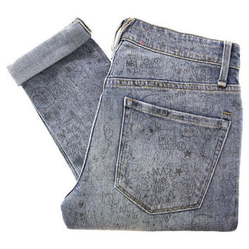 Marc by Marc Jacobs M1122912 Rolled Slim Jeanius Ink Jeans