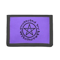 Protected by Witchcraft Pentacle Wiccan Wallet