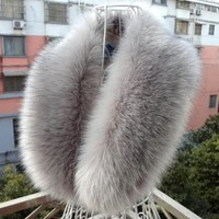 Women's Luxurious Fluffy Faux Fur Collar