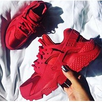 NIKE AIR Huarache Fashion Running Women Men Sport Casual Shoes Sneakers Red