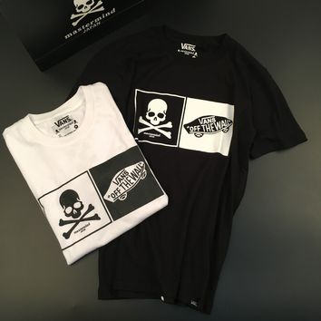 Skull Summer Short Sleeve Casual Couple Cotton T-shirts [11086466119]