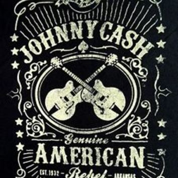"""New! Johnny Cash """"American Rebel"""" Classic Country Licensed Concert T-Shirt"""
