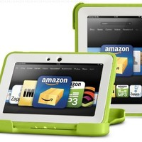 """OtterBox Defender Series Protective Case for Kindle Fire HD 7"""" (Previous Generation), Green/Apple (with built-in screen protection)"""