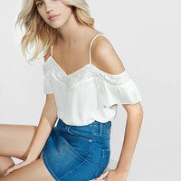 Cold Shoulder Lace Trim Cami from EXPRESS