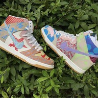 DCCK Nike SB What The Dunk High 918321-381 Size US5.5-11