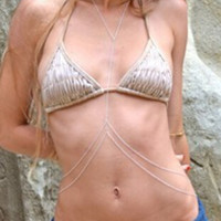 Silver Twist Chain Body Harness