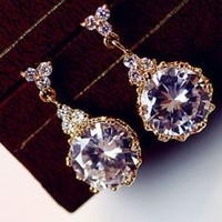 Dangling Princess's Jewel Rhinestone Earrings | LilyFair Jewelry