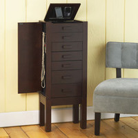 Chase Jewelry Armoire with Charging Station | Jewelry Boxes | World Market