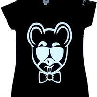 VINCE THE MOUSE V-NECK TEE -BLACK - HtDogWtr-Believe In Your Flyness!