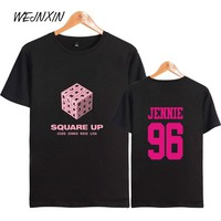 WEJNXIN Summer T-shirt Women Men Kpop BLACKPINK SQUARE UP Short Sleeve Cotton T Shirt BLACKPINK Harajuku Hip Hop Tops Camisetas