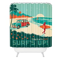 Anderson Design Group Surfs Up Shower Curtain
