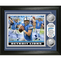 Matthew Stafford inTriple Threatin Silver Coin Photo Mint