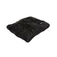 Square Pillow Bed — Black Shag