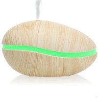 Ivation Pod-Shaped Essential Oil Diffuser & Humidifier - Whisper-Quiet Ultrasonic Vaporizer Produces Cool Mist - Perfect for Home or Spa Aromatherapy - Touch Operation
