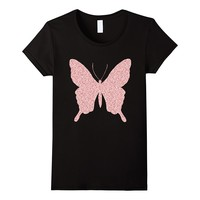 Butterfly Rose Gold Pink Glitter Shirt Butterfly Lover Gifts